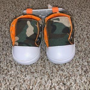 """Camo"" Soft Sole Sneakers Sz 2"